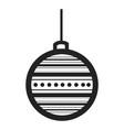 christmas ball outline vector image vector image