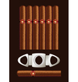 cigars and guillotine vector image