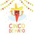 cinco de mayo banner template traditional mexican vector image vector image