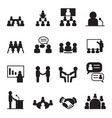 conference icon set vector image vector image