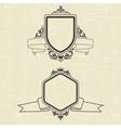 Contour emblems vector image