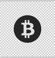 cryptocurrency coin bitcoin icon isolated vector image vector image