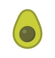 cute avocado exotic fruit isolated colorful vector image