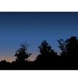 Dawn sky vector image vector image