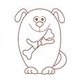 dog bone vector image
