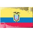 Ecuador national flag vector image