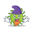 elf green bacteria character cartoon vector image