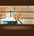 employment law books on a table vector image vector image