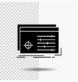 file object processing settings software glyph vector image vector image