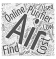 Finding Low Cost Air Purifiers Word Cloud Concept vector image vector image