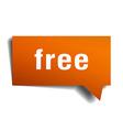free orange speech bubble isolated on white vector image vector image