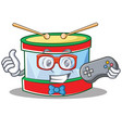 gamer toy drum character cartoon vector image vector image