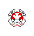 global canada logo emblem vector image