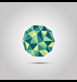 green and yellow sphere mosiac polygon shape icon vector image vector image