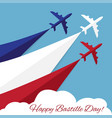 happy bastille day independence day of france vector image