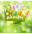 Happy Birthday Background With Origami vector image vector image