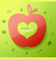 health green background vector image vector image