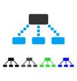 Hierarchy scheme flat icon