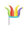 jester on stick masquerade decorative element vector image