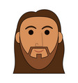jesuschrist man face cartoon vector image vector image