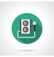 Karaoke round flat color icon vector image vector image