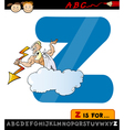letter z with zeus cartoon vector image
