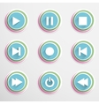 Mediaplayar buttons vector image vector image