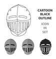 medieval helmet icon cartoon single weapon icon vector image vector image