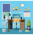 Modern workplace in room vector image vector image