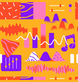 music app cartoon icon seamless pattern vector image
