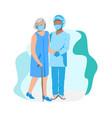 nurse caring for elderly vector image vector image