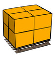 pallet icon cartoon vector image vector image