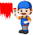 professional painter cartoon vector image vector image