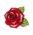 red vintage rose popular rock culture color poster vector image vector image