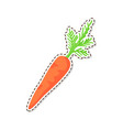 ripe carrot flat isolated sticker or icon vector image