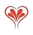 romantic decoration retro abstract heart icon vector image
