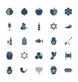 rosh hashanah solid web icons vector image