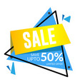 sale save up to 50 limited offer triangle frame v vector image vector image