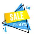 sale save up to 50 limited offer triangle frame v vector image