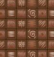 Seamless chocolate pattern vector image