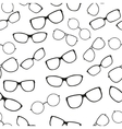 Seamless pattern with glasses vector image vector image
