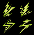 set of green signs of electricity vector image vector image