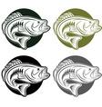 set of labels wit large moutn bass vector image