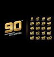 set premium anniversary logotype golden vector image vector image