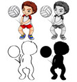 set volleyball player vector image
