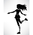 Silhouette of teenager girl vector image vector image