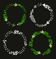 subtle floral wreath vector image