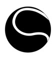 tennis ball black flat icon vector image vector image