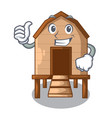 thumbs up chiken coop isolated on a mascot vector image vector image