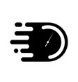 time clock or stopwatch logo for fast delivery vector image